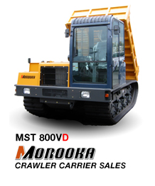 Morooka MST-800VD Low ground pressure rubber tracked Morooka crawler carrier.